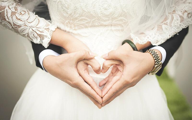 Bryllup i Hallens selskabslokaler